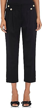 Womens Vali Stretch Virgin Wool Twill Crop Ankle Pants Maison Mayle