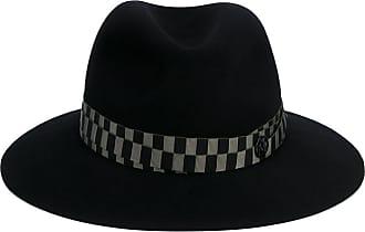 Black Green Henrietta Bondage Fedora Hat Maison Michel