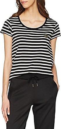 Scotch&Soda Maison Friend Fit Long Sleeve Tee in Breton Stripes, T-Shirt Femme, (Combo D 20), X-Large