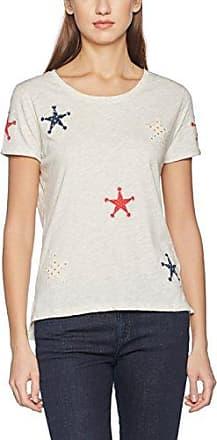 Scotch & Soda Mercerised Rock tee, Camiseta para Mujer, Multicolor (Combo D 20), S