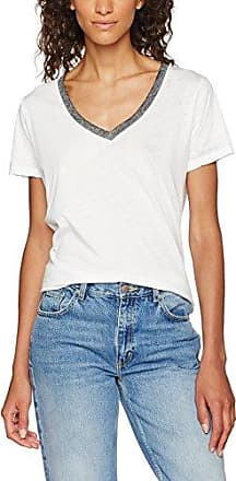 Scotch & Soda Maison 134864, Camiseta de Manga Larga para Mujer, Blanco (Navy 03), 42 (Talla del Fabricante: 3)