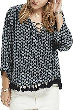 Scotch&Soda Maison Knitted Skirt with Sporty Stripes at Hem, Jupe Femme, -Schwarz (Black 08), 42