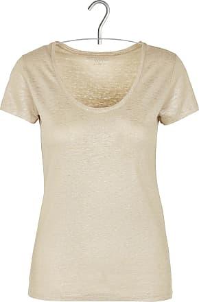 Besticktes Leinen-T-Shirt mit Rundhalsausschnitt Majestic