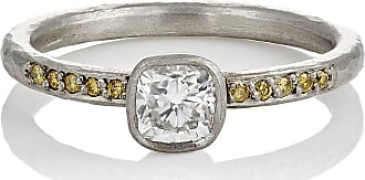 Malcolm Betts Womens Heart-Shaped Yellow Diamond Ring