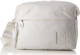 Md20 Lux Tracolla, Womens Shoulder Bag, White (White Lux), 10x34x30 cm (B x H T) Mandarina Duck