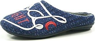Manitu 320506 Schuhe Damen Hausschuhe Pantoffeln, Schuhgröße:42, Farbe:Blau