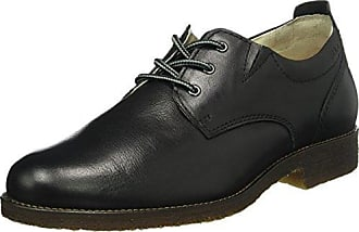 Manz Mali - Zapatos de cordones de cuero para hombre negro negro, Schwarz 001, 40 EU (6.5 Herren UK)