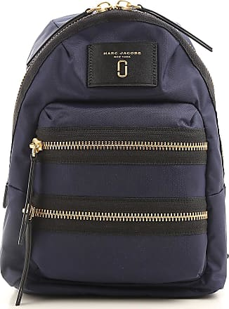 Marc Jacobs Backpack for Women, Blue, Leather, 2017, one size