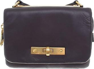 gebraucht - Umhängetasche - Damen - Violett - Leder Prada
