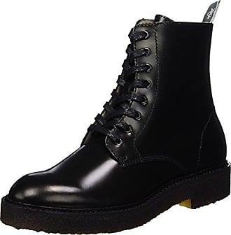 Marc O' Polo Flat Heel Bootie 70814236301108 Bottes à Lacets, Schwarz (Black), 38 EU