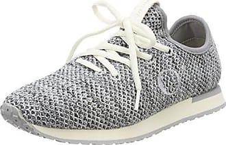 Marc O'Polo Sneaker 80214433501801, Zapatillas para Mujer, Blanco (White/Silver 104), 38 EU