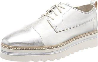 Sneaker 80214433501102, Zapatillas para Mujer, Grau (Grey/Silver), 41 EU Marc O'Polo