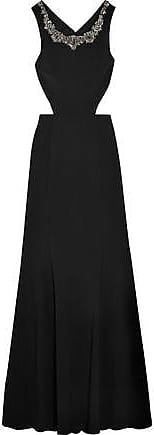 Marchesa Notte Woman Cutout Embellished Stretch-crepe Gown Black Size 8 Marchesa