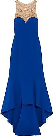 Marchesa Notte Woman Tasseled Embellished Stretch-cady Gown Royal Blue Size 14 Marchesa