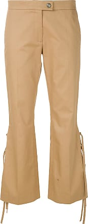 lace-tied tailored trousers - Nude & Neutrals Marco De Vincenzo