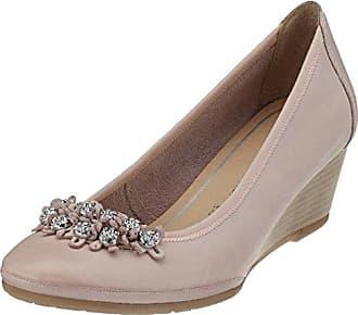 22422, Zapatos de Tacón para Mujer, Marrón (Mocca Str.Pat.), 39 EU Marco Tozzi