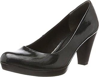 22449, Zapatos de Tacón para Mujer, Negro (Black Pat.Comb), 37 EU Marco Tozzi