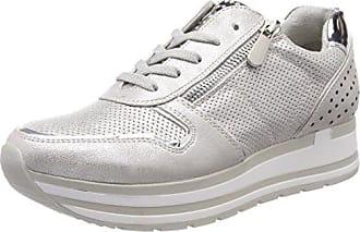 23613, Zapatillas para Mujer, Gris (Grey Comb 221), 37 EU Marco Tozzi