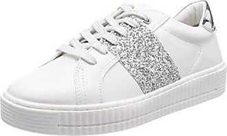 23609, Zapatillas para Mujer, Blanco (White Str.Comb 112), 40 EU Marco Tozzi