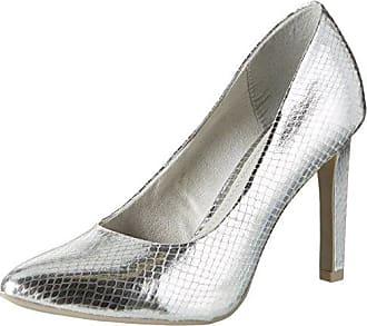 22415, Escarpins Femme, Argent (Silver Met.STR 965), 38 EUMarco Tozzi