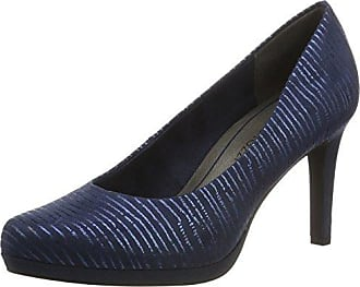 22422, Escarpins Femme, Bleu (Steel STR.Pat.), 38 EUMarco Tozzi