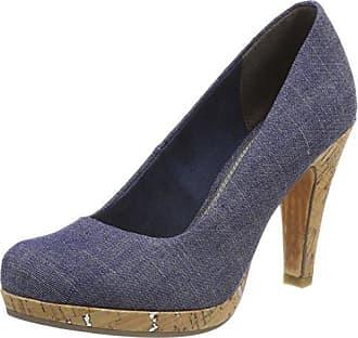 Womens 22450 Closed Toe Heels, Blue (Jeans Comb 811), 3.5 UK Marco Tozzi