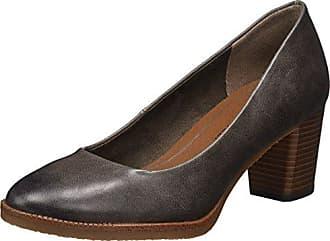 22422, Zapatos de Tacón para Mujer, Negro (Black Str.Pat.), 38 EU Marco Tozzi