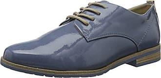 23623, Zapatos de Cordones Oxford para Mujer, Azul (Navy Comb.), 40 EU s.Oliver