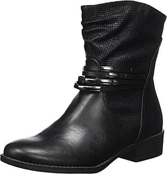 25605, Botas para Mujer, Negro (Black Ant.Comb), 40 EU Marco Tozzi