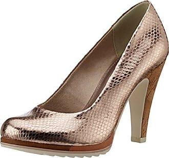 22415, Zapatos de Tacón para Mujer, Rosa (Rose Met.Stru. 537), 39 EU Marco Tozzi
