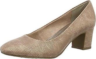 22404, Zapatos de Tacón para Mujer, Azul (Navy Metallic), 40 EU Marco Tozzi