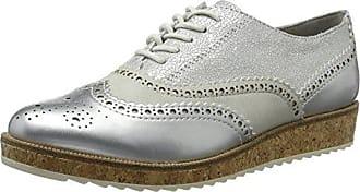 23705, Brogues Femme, Argent (Silver Comb), 39 EUMarco Tozzi