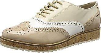 JYCX15PR2-1 - Zapatos de Vestir Brogues Mujer, Color Beige, Talla 41 UE Giudecca