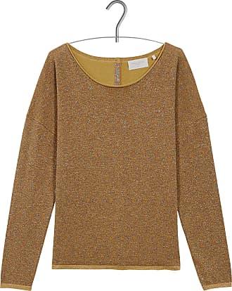 Sweatshirt aus Baumwoll-Mix mit U-Boot-Ausschnitt, Stickerei und geknöpften Schultern ACOTÉ