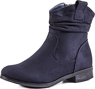Aisun Damen Flach Schnürsenkel Martin Boots Kurzschaft Stiefel Braun 37 EU