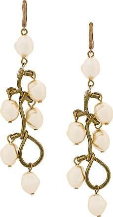 pearl leather earrings - Nude & Neutrals Marni