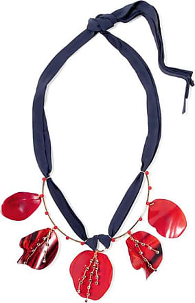 necklace en in horn resin product and leather com us tone net marni gold a porter pp