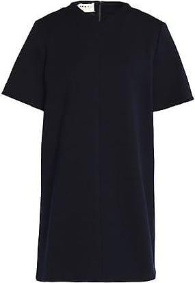 Marni Woman Stretch Wool-blend Ponte Mini Dress Navy Size 44 Marni