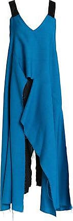Marni Woman Ruched Satin Dress Emerald Size 44 Marni