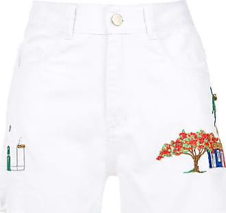 embroidered twill shorts - Unavailable Martha Medeiros