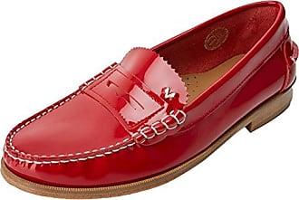 Flavie - Mocasines de cuero para mujer Rojo rojo 40 TBS