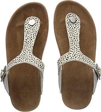 Maruti Cato Hairon Leather, Zapatillas para Mujer, Beige (Pixel Offwhite/Black ZJ2), 37 EU