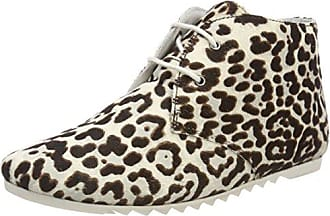 Maruti Ginny Hairon Leather, Botines para Mujer, Gris (Cheetah White/Black ZJ6), 41 EU