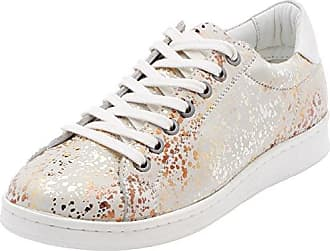 Maruti Nena Leather, Zapatillas para Mujer, Blanco (White Monochrome B35), 38 EU