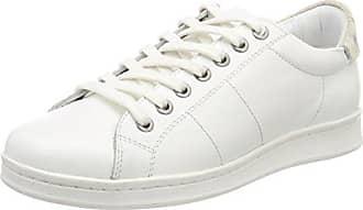 Maruti Nena Leather, Zapatillas para Mujer, Blanco (White Monochrome B35), 38 EU