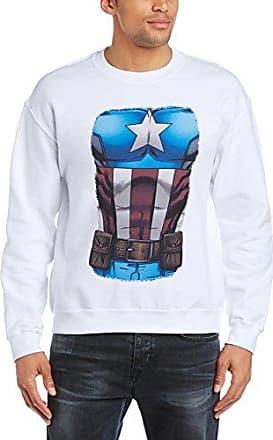 Mens Avengers Assemble Captain America Chest Burst Long Sleeve Sweatshirt MARVEL