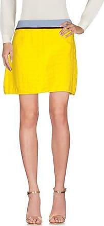 Leather mini skirt with zip - Yellow & Orange HPC Trading Co.