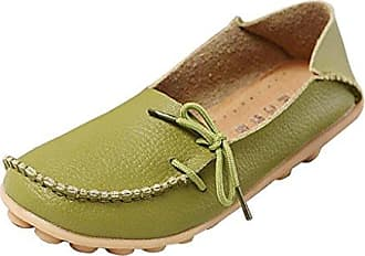 Minitoo , Damen Mokassins, - Leather-Algae Green - Größe: 35.5