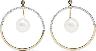 Blizzard Mobile 14-karat Gold Pearl Earrings - one size Mateo Bijoux