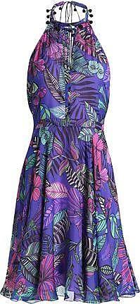 Matthew Williamson Woman Floral-print Silk Dress Black Size 6 Matthew Williamson